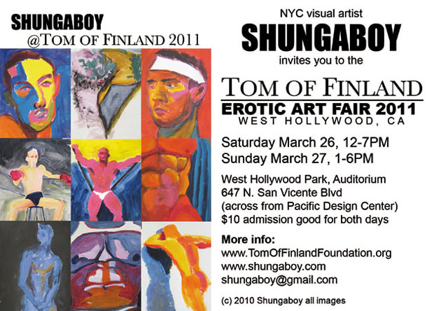 Shungaboy's Postcard for Tom of Finland Erotic Art Fair 2011
