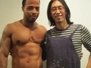 Gay artist Shungaboy with model Dee Whitt