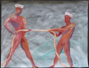 Sailors Tug Of War, 2012 (S10221)