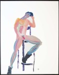 Nude Hottie On Tall Chair (S10228)
