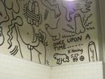 Keith Haring bathroom