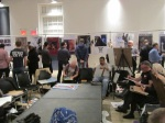 Drawing Circle with poster exhibit