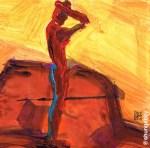 Slender Red Man